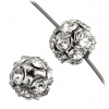 Swarovski Bead/ball Rhodium 8mm Crystal